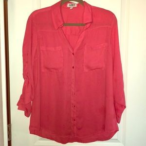 Express Portofino dress shirt, pink, size L